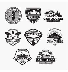 kayak 2 badge vector image