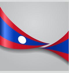 Laos wavy flag vector
