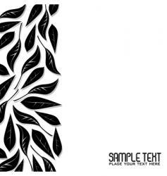leaf border vector image