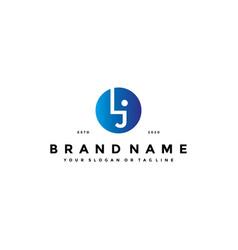 Letter lj logo design vector