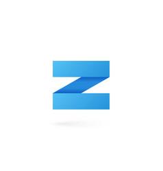 Letter z logo alphabet on white background vector