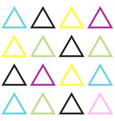 memphis seamless pattern vector image
