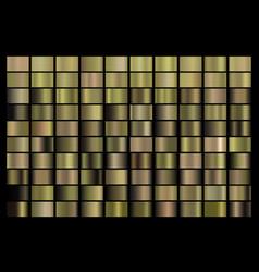 metallic bronze gold silver chrome copper vector image