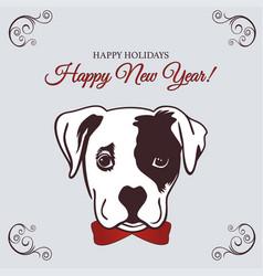 new year 2018 dog vector image