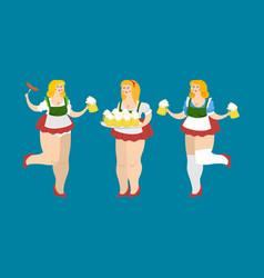 oktoberfest girl set national beer festival in vector image