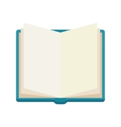 Open book notebook icone vector