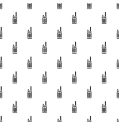 Portable handheld radio pattern simple style vector image