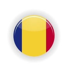 Romania icon circle vector