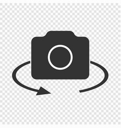 Rotate camera icon vector