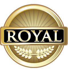 Royal gold icon vector