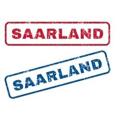Saarland Rubber Stamps vector