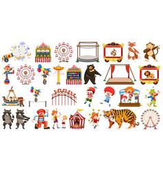 set circus element vector image
