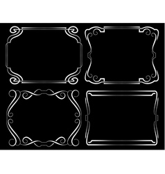 Set of framework White on black vector image