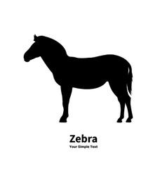 silhouette of zebra vector image