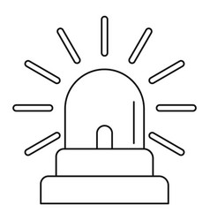 siren icon outline style vector image