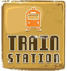 Train station design vector