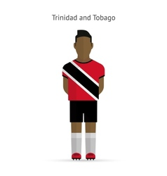 Trinidad and Tobago football player Soccer uniform vector