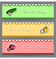 VegetableBanners2 vector image