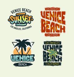 venice beach california summer time beach life vector image