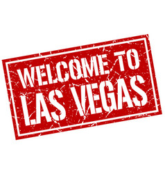 welcome to las vegas stamp vector image