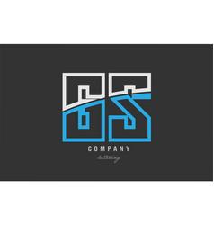 White blue alphabet letter gs g s logo icon design vector
