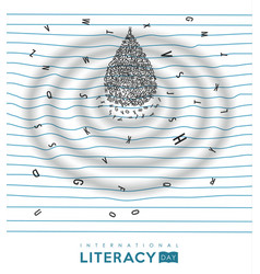 World literacy day concept for children education vector