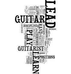 You can learn to play lead guitar text word cloud vector