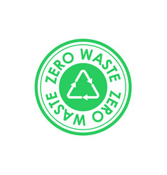 Zero waste circle icon with mobius strip in vector