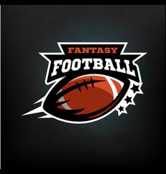 american football fantasy vector image