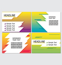 Line Speed Color Info Graphic Modern vector image vector image