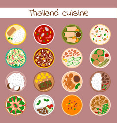 national traditional thai food thailand asian vector image