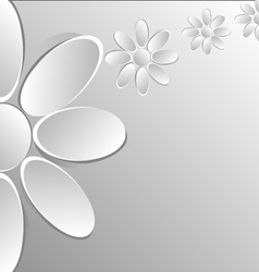paper flowers on white background vector image vector image