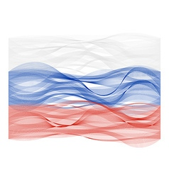 Wave line flag of russia vector