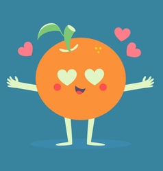 Cute orange crazy in love vector