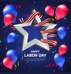 greeting card or banner to happy labor day with vector image vector image