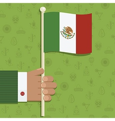 mexican flag vector image vector image