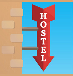 outdoor hostel signflat style vector image