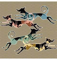 running animals vector image vector image