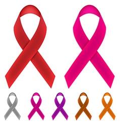 Cancer Awareness Ribbon vector image