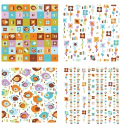 cute spring patterns vector image vector image