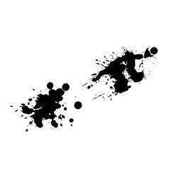 set of ink splashes blots splatter vector image