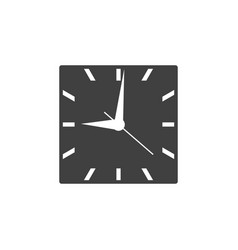 square clock icon with black clockface isolated vector image vector image