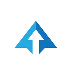abstract triangle business arrow logo vector image