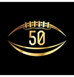 American football 50 icon vector