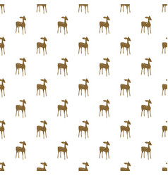 deer cartoon seamless pattern vector image