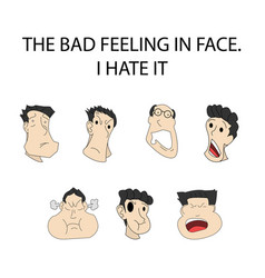 face expressionthe bad feeling - on shadow vector image