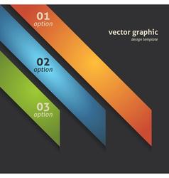 Modern Option Banner vector image vector image
