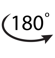 180 degrees icon on white background 180 degrees vector