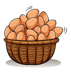A basket full of eggs vector image