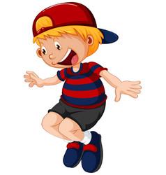 A happy boy character vector